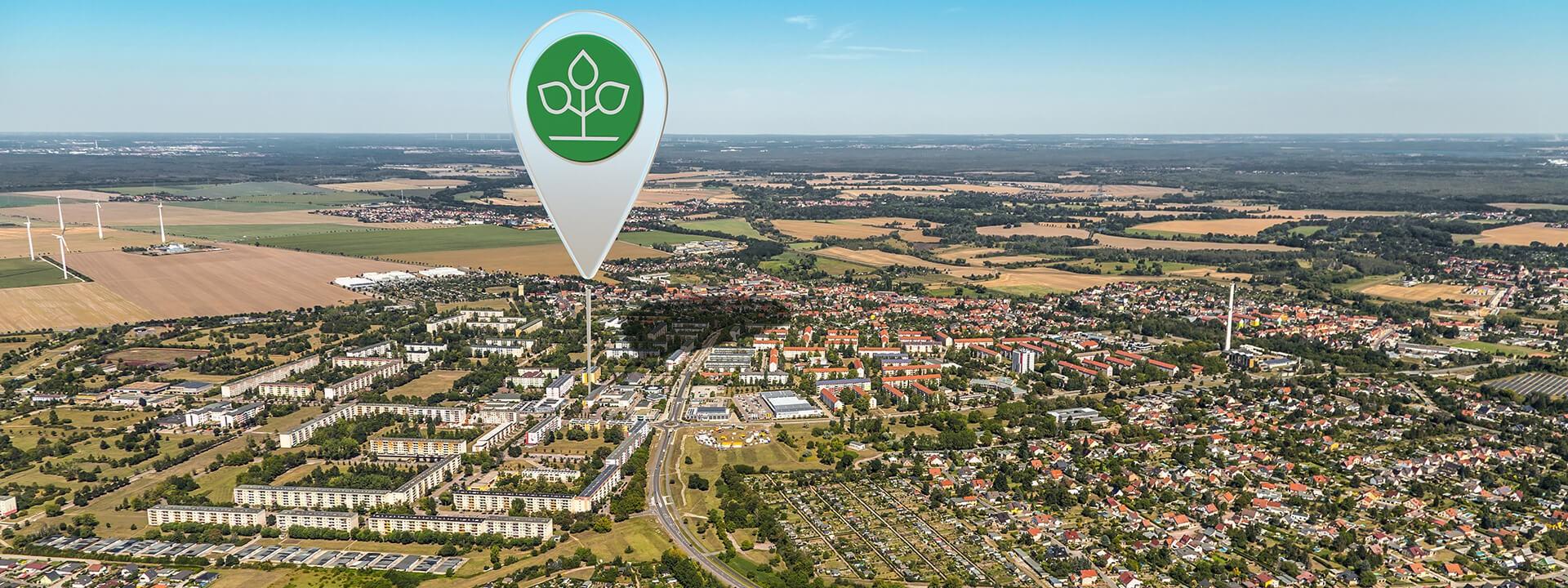 Luftbild von Wolfen