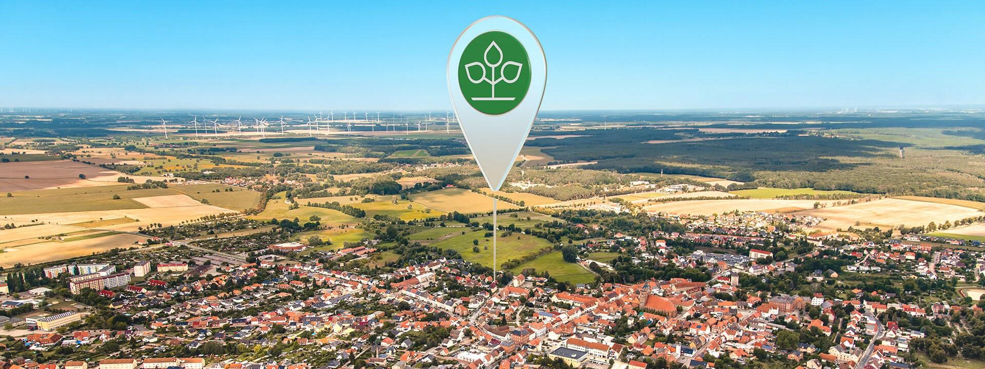 Luftbild von Osterburg