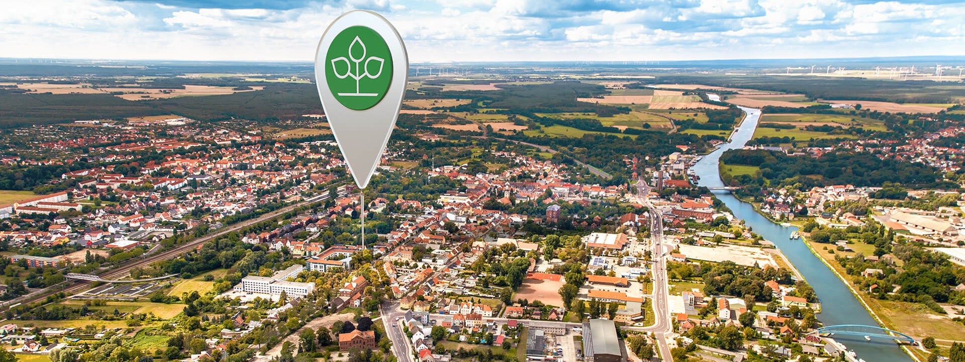 Luftbild von Genthin