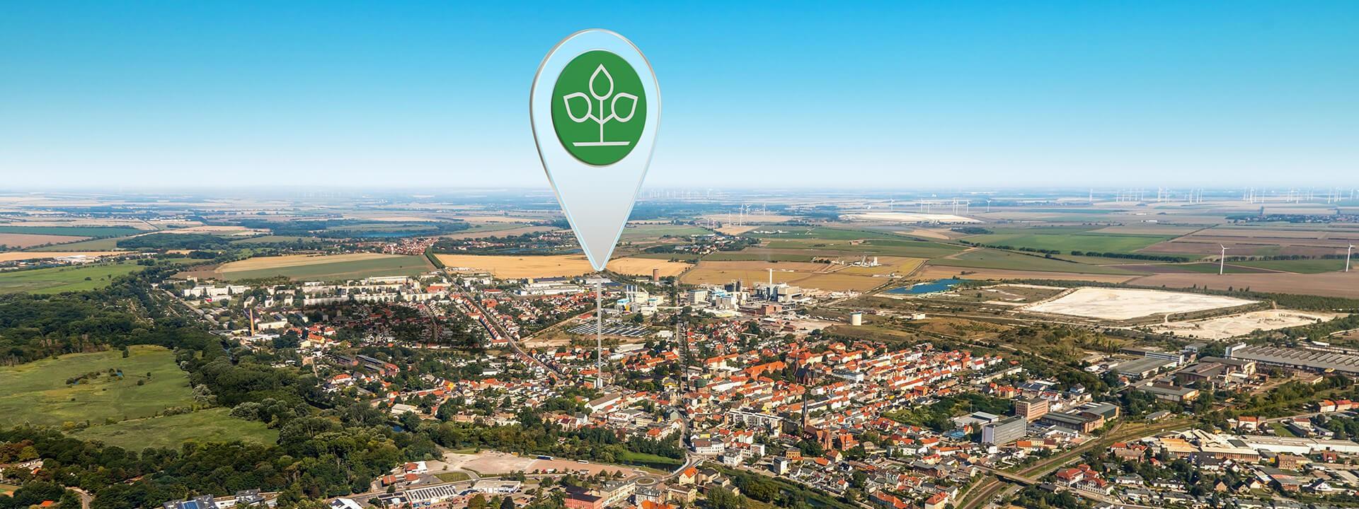 Luftbild von Staßfurt