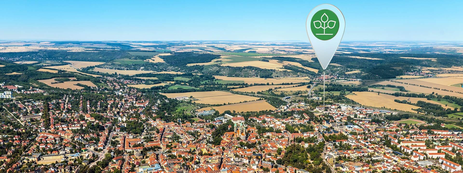 Luftbild von Naumburg