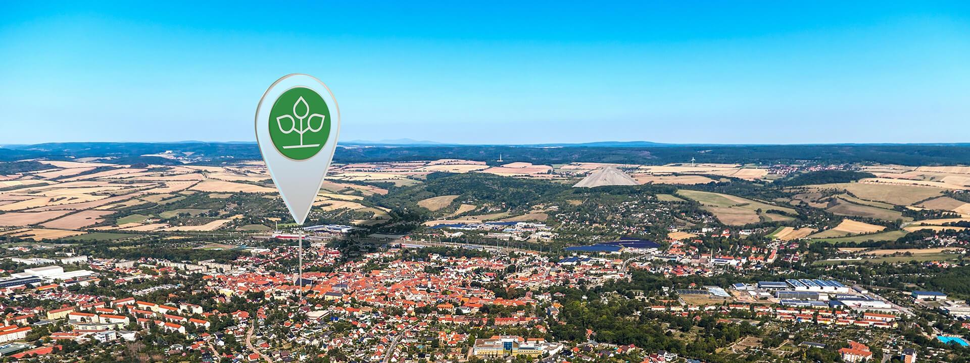 Luftbild von Sangerhausen