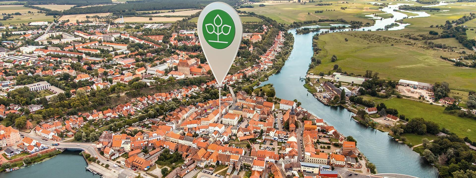 Luftbild von Havelberg