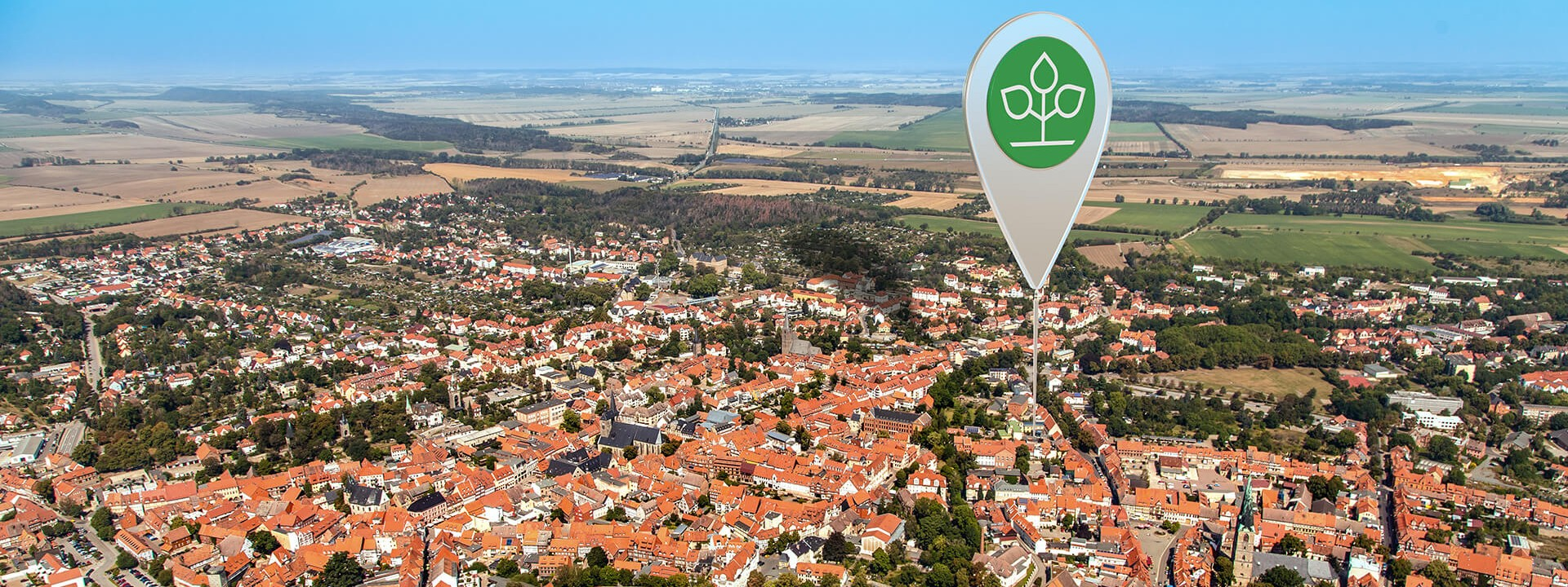 Luftbild von Quedlinburg
