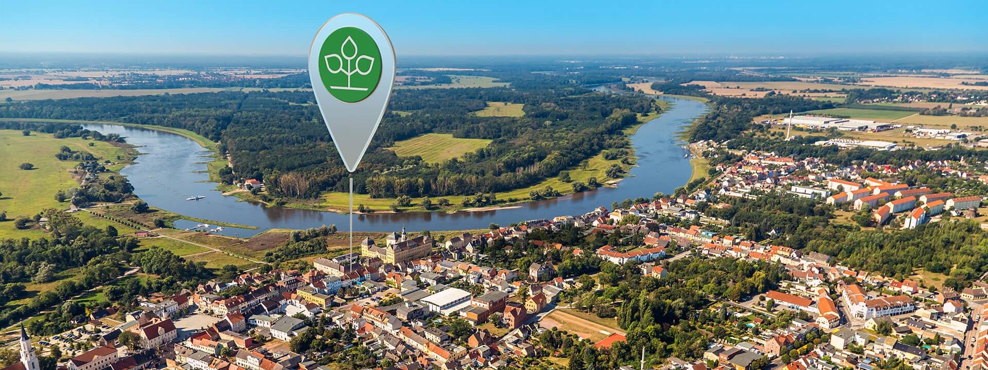 Luftbild von Coswig