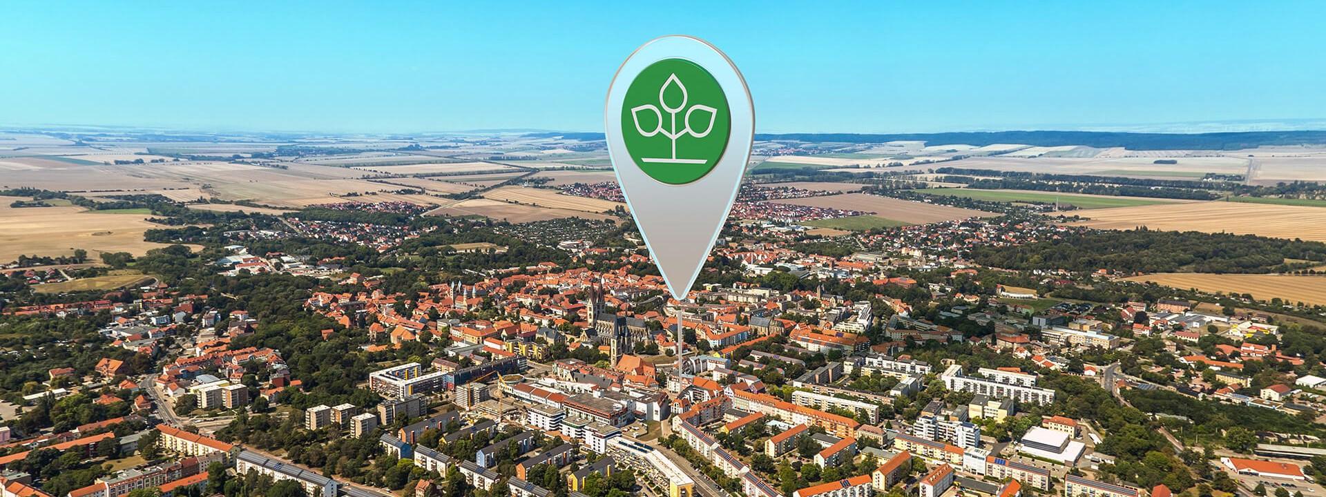 Luftbild von Halberstadt