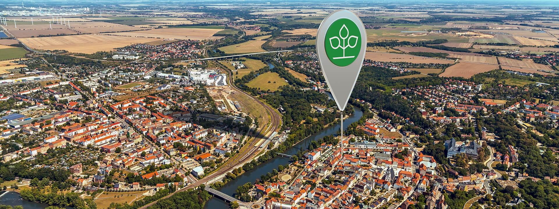 Luftbild von Weißenfels