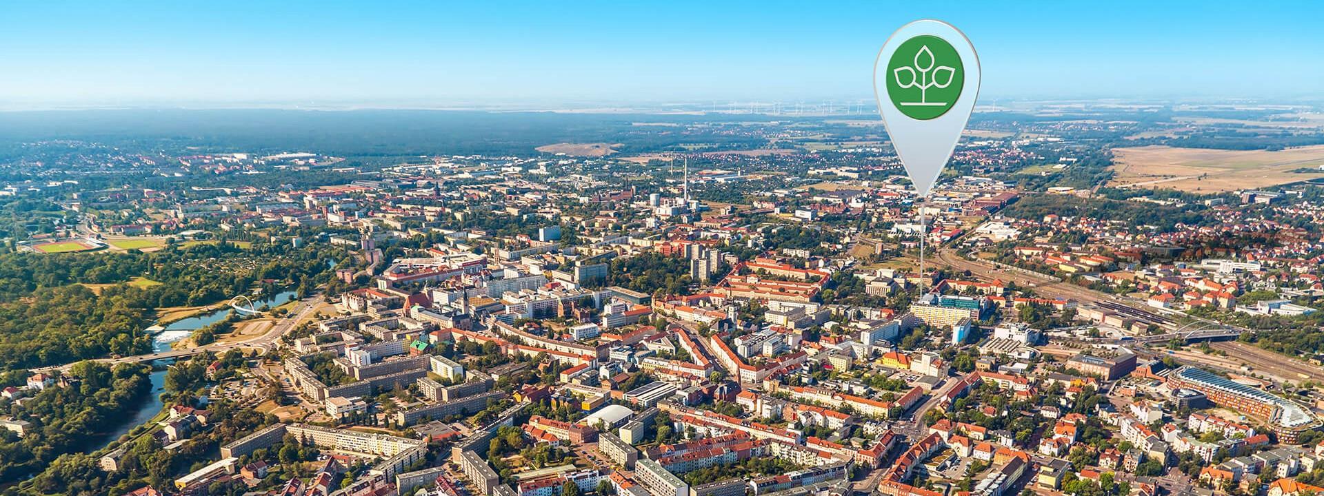 Luftbild von Dessau