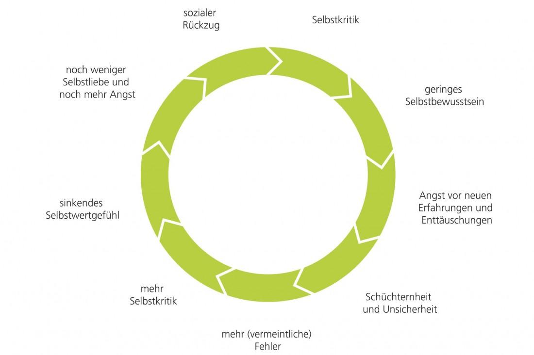 Schaubild Kreislauf Selbstkritik