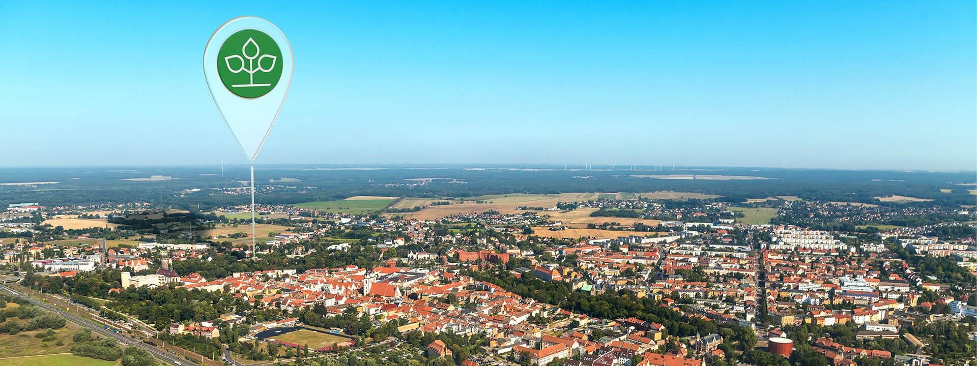 Luftbild von Wittenberg