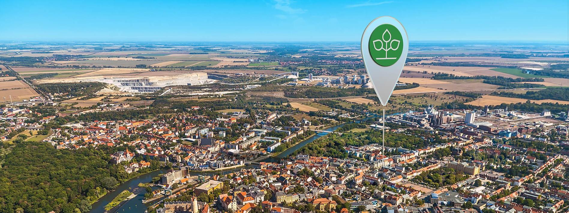 Luftbild von Bernburg