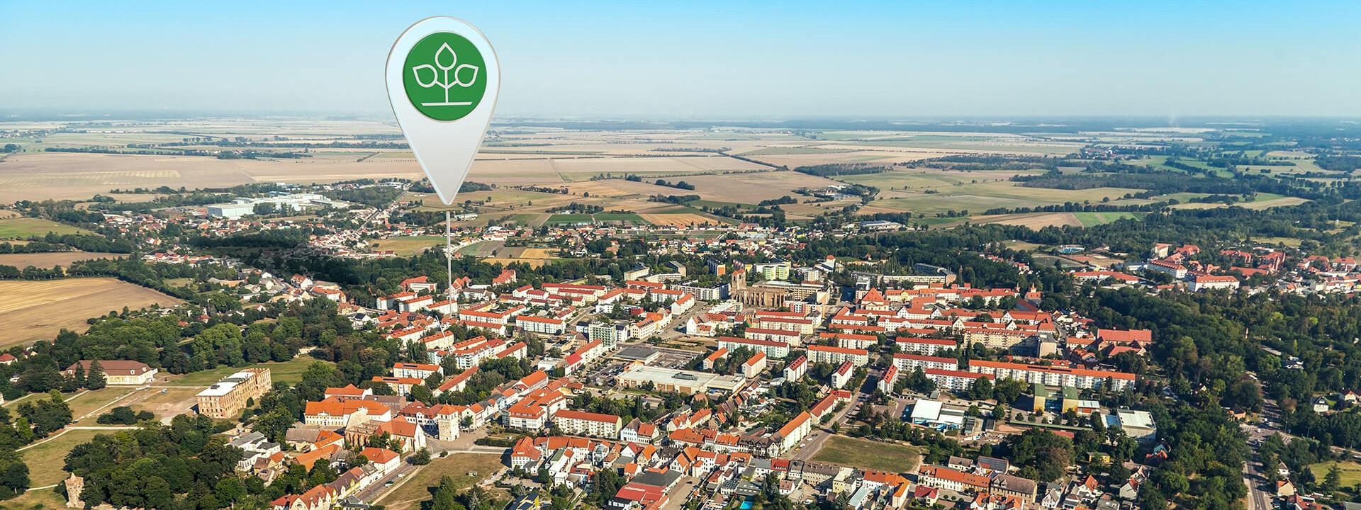 Luftbild von Zerbst