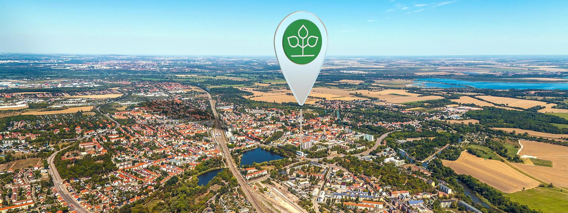 Luftbild von Merseburg