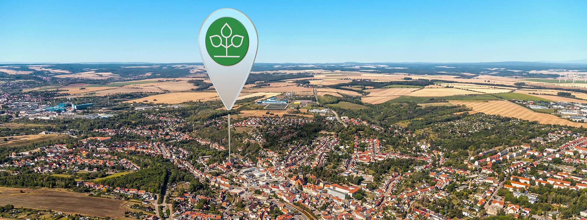 Luftbild von Hettstedt